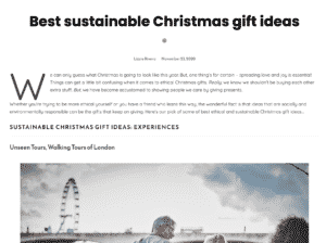 Best Sustainable Christmas Gift Ideas from Live Frankly
